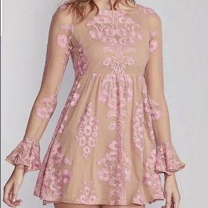 For Love & Lemons Temecula Embroidered Mini Dress